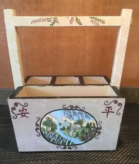 Oriental Wooden Hand Painted Display Box