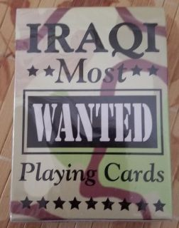 NEW SEALED DESERT STORM IRAQI MOST WANTED PLAYING CARDS
