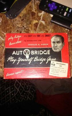 Vintage 1950's Auto Bridge Game