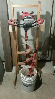 Post hole or ice fishing auger