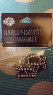 Harley Davidson Magnet with Bling! New! Tag price says $17.90 !!!