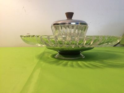 4piece glass serving tray