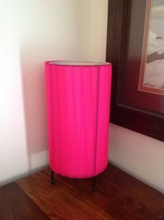 "NWT HOT PINK LAMP ABOUT 10"" TALL"