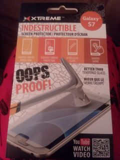 Never used Oops Proof Screen Protector S7