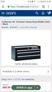 Looking for craftsman tool chest