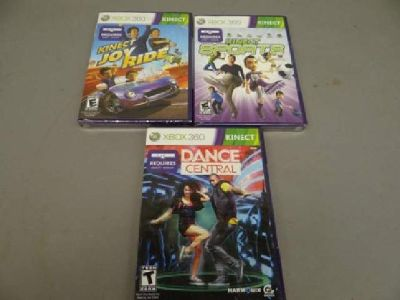XBox360 Kinect Games - Current bid -