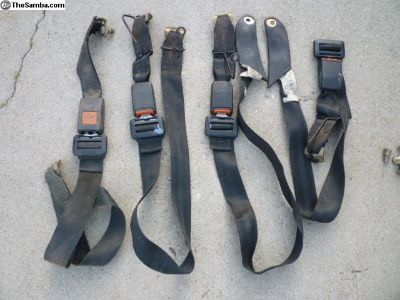 1987 VW Vanagon rear seat lap belts