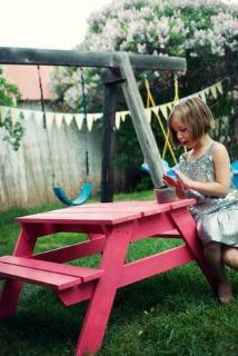 Custom Toddler Picnic Table