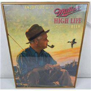 $10 Miller High Life framed poster.