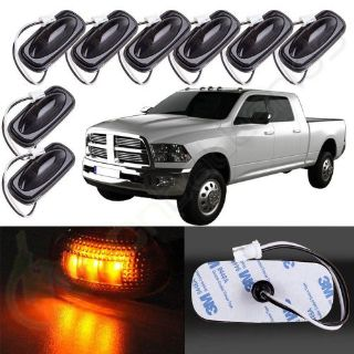 Sell 8x Smoked/Amber Front Side Fender Marker LED Lights for 2003-2009 Dodge RAM 3500 motorcycle in Pomona, California, United States