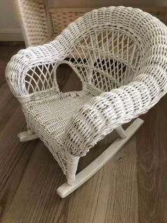 American Girl Doll Wicker Rocking Chair