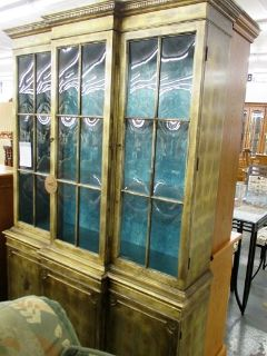 Hutch with Gold Leaf and Convex Glass