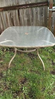 Large patio table no chairs