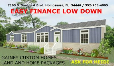 Move to Homosassa area 5 Acres and a new Modular 2017 Jacobsen Home