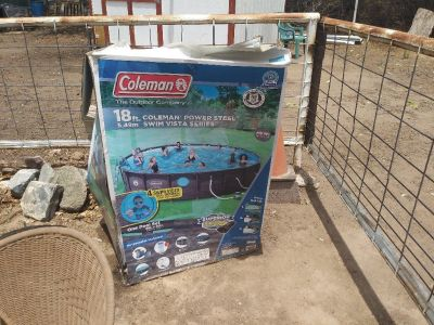 Coleman power steel 18x48 swimimg pool