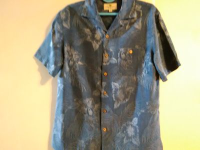 2 brand new men's short sleeve shirts 100% washable silkzxz