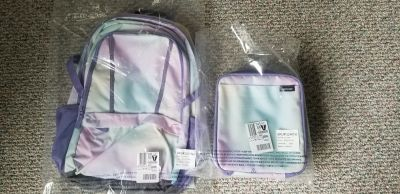NWT Lands End size XL backpack and lunchbox