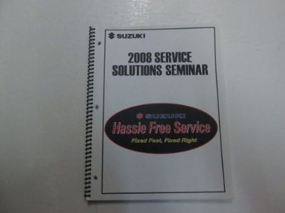 Buy 2008 Suzuki Service Solutions Seminar Manual MINOR STAINS OEM BOOK 08 DEAL*** motorcycle in Sterling Heights, Michigan, United States, for US $14.99