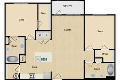 $1,425/mo \ 2 bedrooms - ready to move in.