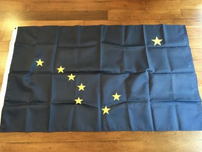 "Alaska State Flag 3' x 5"" made by Annin and Co."