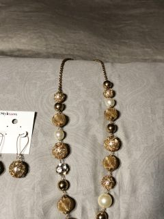 Style &Co gold ball fashion necklace NWT