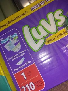Luvs diapers size 1 210 count