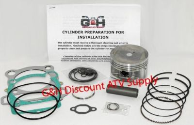 Buy Yamaha YFM 350 Warrior Cylinder Top End Rebuild Kit Machining Service YFM350 ATV motorcycle in Somerville, Tennessee, United States, for US $169.95
