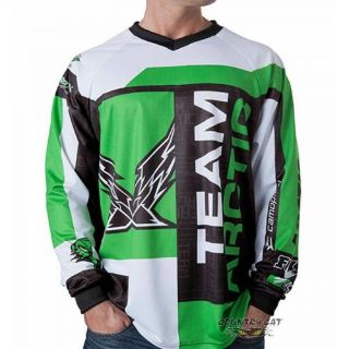 Find Arctic Cat Men's Sponsor Snowmobile & ATV Jersey - White / Green / Black - 5253- motorcycle in Sauk Centre, Minnesota, United States, for US $33.99