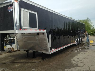 46ft United two car enclosed race trailer. Upgrades