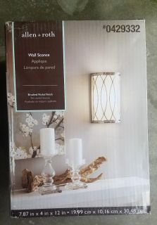 Allen & Roth Brushed Nickel Wall Sconce