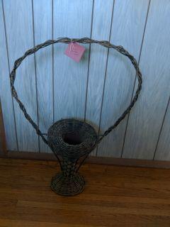 Antique Wicker Funeral/grave Basket