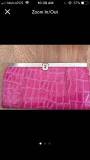 Pink wallet with lots of compartments