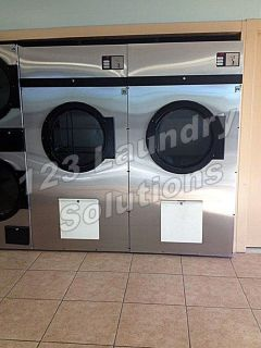 Good Condition ADC Stainless Steel 75lbs Single Pocket Dryer 120v ADG758DV 175,000 Btu/hr Used