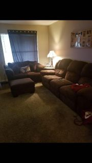 Living room couches and ottoman