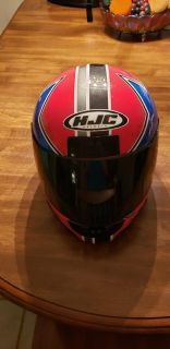 Motorcycle helment with face shield size XL