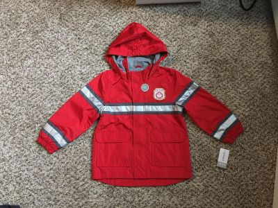 Carter s Firefighter Raincoat. Size 5-6. Brand New with Tags. Originally $48!
