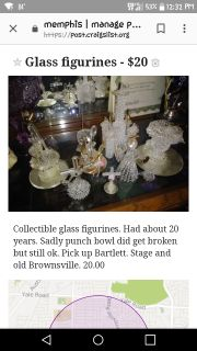 Collectible glass figurines