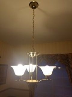 brass 3 light chandelier