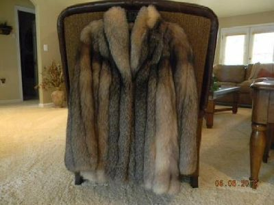 $600 Crystal Fox Fur Coat