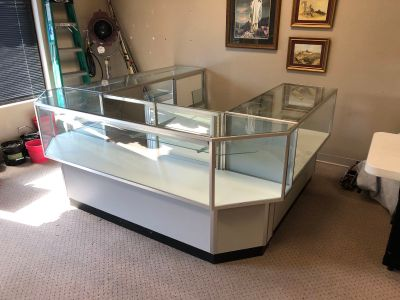 Display Cases (3) $225 Large $150 smaller