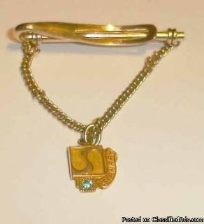 A Collector Train Company Gold Tie Clip