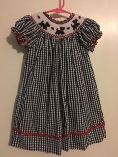 Marmellata 3T Scotty Dog Smocked Dress