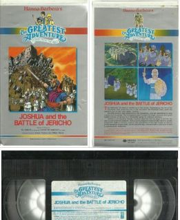 HANNA BARBERA Joshua Battle of Jericho Clamshell Ed Asner Mariette Hartley BIBLE tested and plays well