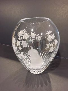 Collectible Lenox fine lead crystal rare vase Enchanted Cat Vase