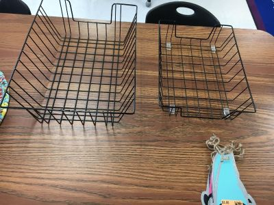 Two wire baskets sold together