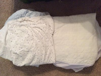 Fitted Mattress pads and crib sheets free