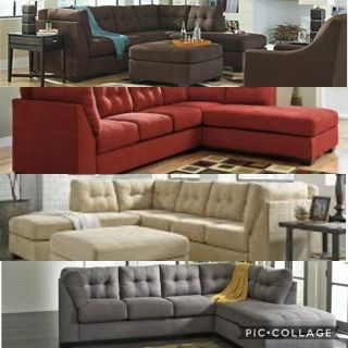 2 piece sectional with color and variation option.