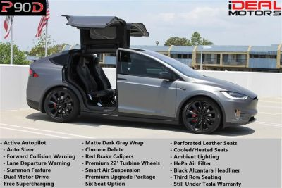 2016 Tesla Model X P90D Sport Utility 4D (Black)