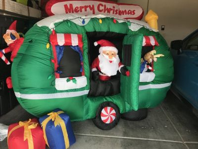 6 foot Inflatable Santa in RV