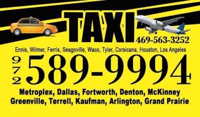 TAXIS EN ENNIS TX 972 589 9994 , en espanol dfw area metroplex